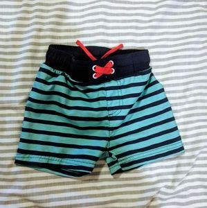Cat & Jack striped swim trunks - 18m